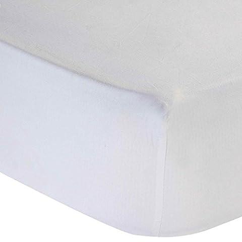Homescapes - Drap-housse Blanc 100% coton Égyptien 200 fils - 160 x 200 cm
