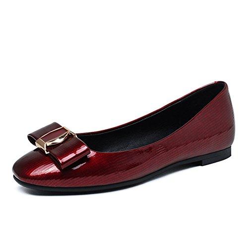 Primavera ladies scarpe/Piazza del tempo libero scarpe piatte di luce/Bow scarpe C
