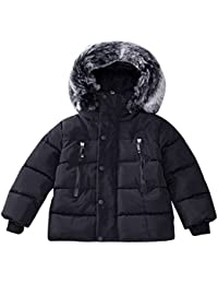 XXYsm Kinder Mantel mit Kapuze Baby Jacke Herbst Winter Kapuzenmantel Outwear Junge Mädchen Dicke Warme Coat