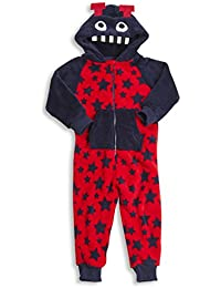 ONEZEE Childrens Infant Kids Boys Novelty Onesie Printed SuperSoft Hooded 2-6