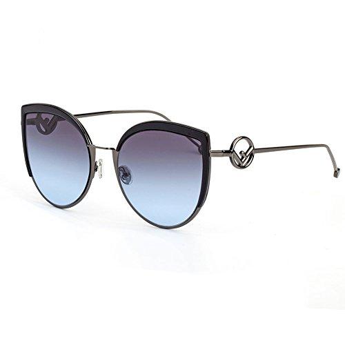 Z&HA Frauen Katzenaugen-Sonnenbrille Große Rahmen Meer-Farbige Linse Gläser Street Shot Brillen Junges Mädchen Kleidung Zubehör Brillen Designer-Stil,Black