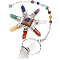 CrystalTears Reiki Chakra-Kristall-Set, 7 Chakra-Pyramiden-Kristalle, 7 Chakra-Anhänger mit Pendel, Kristall,... preisvergleich bei billige-tabletten.eu