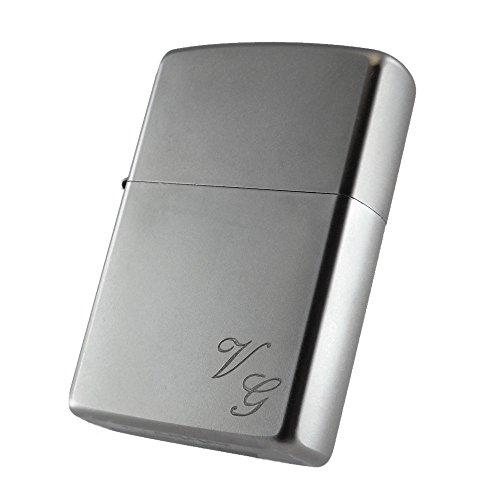 feuerzeug mit namen Zippo Benzinfeuerzeug Satin Finish Feuerzeug + kostenlose Gravur von Initialen, Name oder Datum