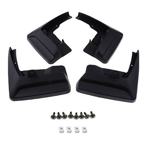 D DOLITY Schutzblech Kotflügel Ersatz Vorne & hinten Schwarz geformten Schmutzfänger Kit aus ABS-Kunststoff mit Montage Zubehör (Kies-klappe)