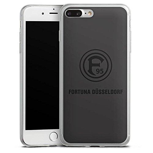 Apple iPhone 8 Slim Case Silikon Hülle Schutzhülle Fortuna Düsseldorf Fanartikel F95 grau Silikon Slim Case transparent