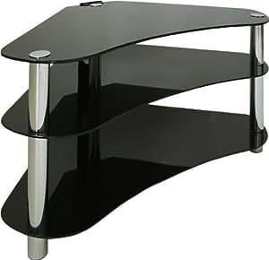 "Centurion GT7 Contemporary Design Flat Screen 26"" - 43"" Glass Stand - Black"