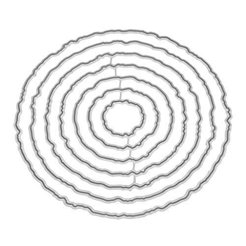 bhty235 Stanzmaschine Stanzschablone, Stanzformen Schablonen Kreis Rahmen Metall Stanzformen Schablone DIY Scrapbooking Album Stempel Papier Karte Prägung Handwerk Dekor