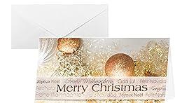 SIGEL DS029 Weihnachtskarten Set mit Umschlag, DIN lang, 10 Stück, mit Banderole - weitere Designs