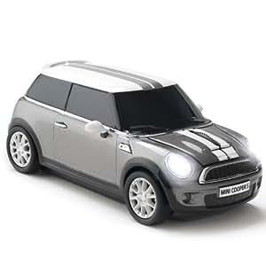 CLICK-CAR-MOUSE Souris filaire USB Mini Cooper S (Argenté-foncé)