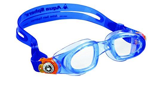 Aqua Sphere Original Moby Kinder Transparente Scheiben Schwimmbrille blau/orange