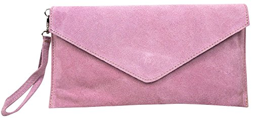 Big Handbag Shop , Damen Clutch One, Blau - Blu (Blu navy) - Größe: One Size Babyrosa