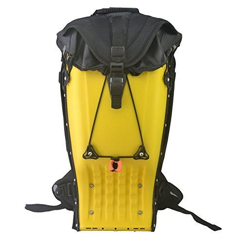 Snail Shop All'aperto equitazione zaino borsa zaino trekking viaggio campeggio rigida zaino (Nero) In pelle gialla