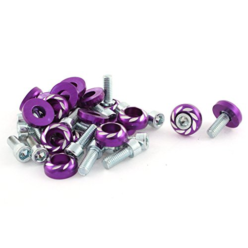 sourcing map 20 x violet 6mm 0.34\