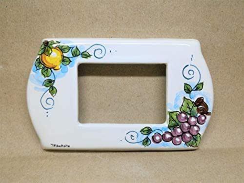 """copri interruttore ceramica :""""Limone-uva"""""""