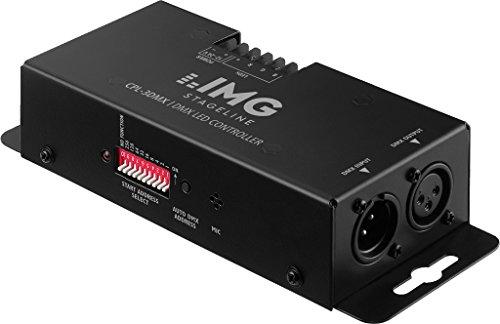 IMG STAGELINE CPL-3DMX 3-Kanal-RGB-LED-Controller mit DMX-Interface schwarz