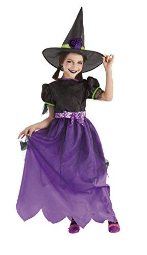 Rubies- Disfraz Brujita Glitter infantil, L (8-10 años) (S8311-L)