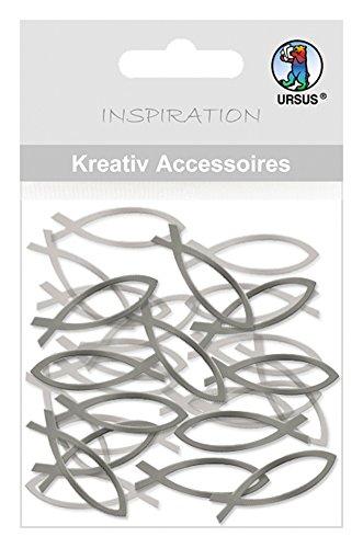 Ursus 56410028 - Kreativ Accessoires Mini Pack, Fische 1, silber Preisvergleich
