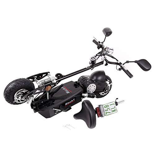 MACH1® Elektro E-Scooter mit EU Strassenzulassung 20Km/h Mofa Modell-2 EEC 36V/500W (Es besteht keine Helmpflicht für diesen Scooter) (1x 36V-16Ah Panasonic Akkus) - 4