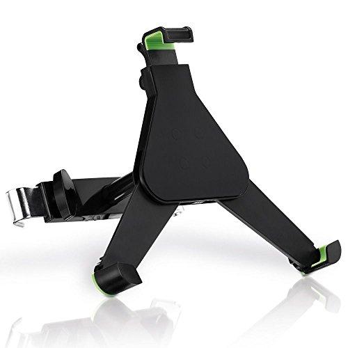 deleyCON HQ Universal Tablet Auto/KFZ Halterung für die Kopfstütze - von 8,9 bis 10,4 Zoll (nicht breiter als 245mm) - Winkel verstellbar für iPad/Galaxy Tab usw - mit & ohne Case nutzbar Schwarz