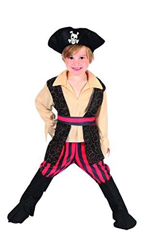 Boland 82238 Karnevalskostüm, schwarz, 110 (Kostüm Seemann Schuhe Halloween)
