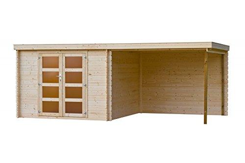 Gartenhaus / Blockhütte Fonteyn Vera Flachdach 560x300 cm Unbehandelt
