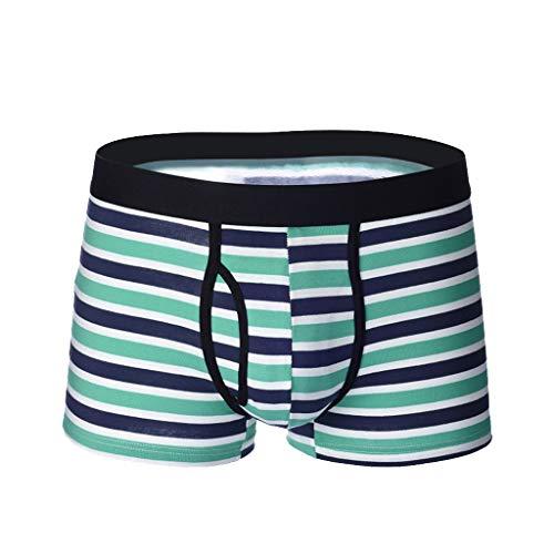 Setsail 2019 Herren Stripe Unterwäsche Soft Breathable Knickers Short ideale Passform Sexy Briefs -