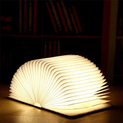 JHSHENGSHI LED Nachtlicht für Kinder, Flexibel LED Buchlampen mit Akku 2000mAh Wiederaufladbar - Nachttischlampe Nachtlicht - Dekorative Lichter - hell genug zu das Ablesen, 14.5 x 10.5 x 2.5cm