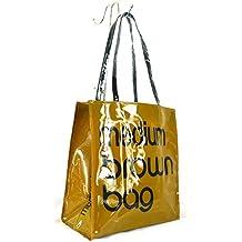 GFM - Bolsa reutilizable para la compra, almuerzo o picnic, de hule o PVC