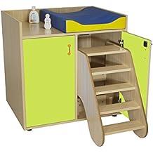 mobeduc 2puertas muebles para cambiar pañales con medidas, madera, Apple verde