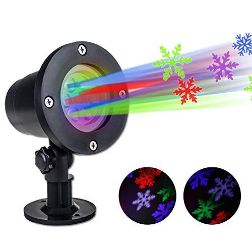 LIKEAD Weihnachts-LED-Projektionslampe, 6 Muster IP65 Wasserdichtes Scheinwerferlicht, 3D -
