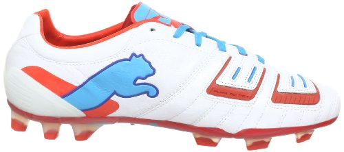 Puma PowerCat 1 SL FG 102780, Scarpe da calcio uomo Bianco (Weiß (metallic white-orange.com 02))