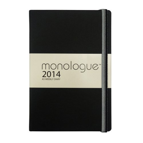 Grandluxe Monologue Diary 8.3-Inch x 5.5-Inch, Black (701024)