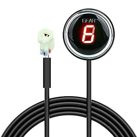 Indicateur de Vitesse étanche pour Moto Affichage LED Plug &