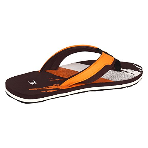 77 Seventy Seven Men Flip Flops Trendy Premium Design Confortable, Light Weight, Boy Walking Slippers (Brown)  available at amazon for Rs.269