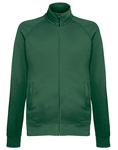 Fruit of the Loom Leichte Sweatjacke - 14 Farben / Größe SML- - Bottle Green - L (Loom Herren-socken)