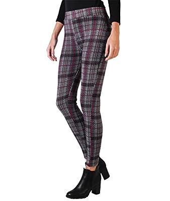 KRISP® Women Fleece Leggings Jersey Stretch Denim Mini Tights
