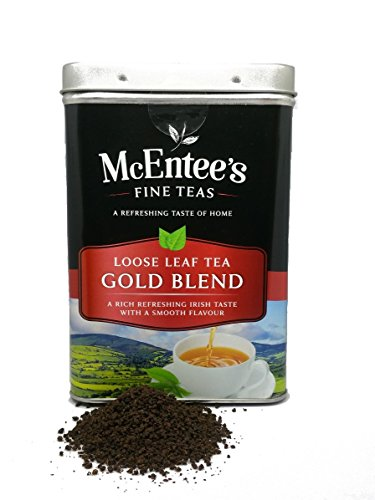 McEntee's Irish Loose Leaf Gold Blend Tea - 500g Tin - Expertly Blended in Ireland to give That Perfect Cup of Tea. A Traditional Blend of Assam and Kenyan Tea Delivering That Taste of Home.