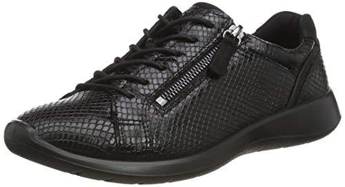 Ecco Soft 5, Zapatillas para Mujer, Negro Black/Black, 38 EU