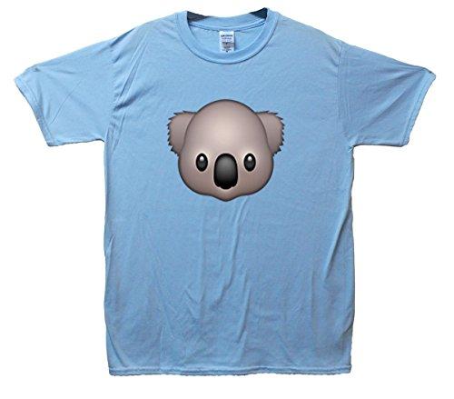 Koala Emoji T-Shirt Hellblau