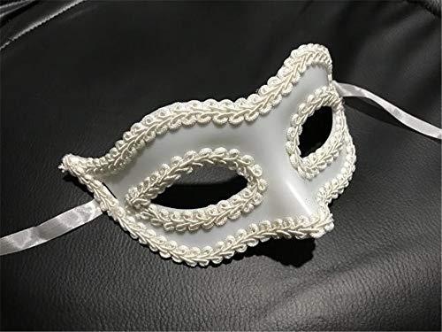 TTXLY Halloween Maske Gentleman Maske Maskerade Maske Herren Frau Weihnachten Masken Halloween Party Schwarz Masken Kostüm - Herr Und Frau Elf Kostüm