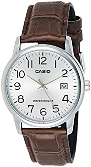Casio Men's Dial Leather Band Watch - MTP-V002L-7B