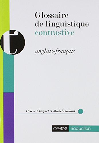 Glossaire de linguistique contrastive