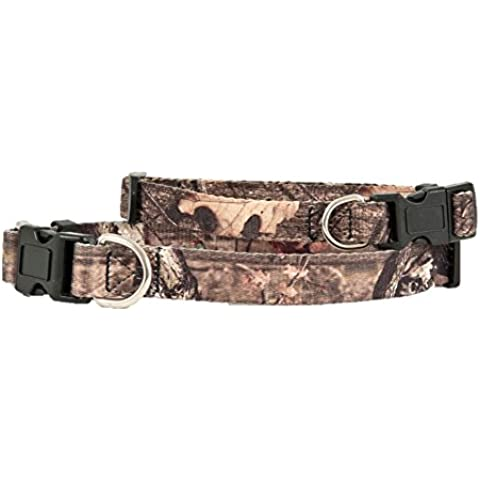 Adjustable Bottomland Dog Collar Color: Camo by Petmate