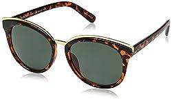H Halston Womens Halston Hh 138 Fashion Round Sunglasses, Tortoise, 144 mm