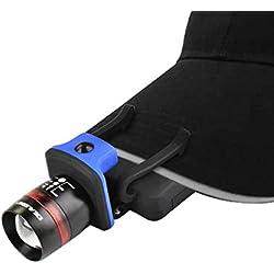 IDEALEBEN Lampe Frontale LED Lampe de poche Capuchon Casquette Chapeau 3 modes d'éclairage pour Cyclisme, Camping, Randonnée, Chasse de Nuit, Sport et Loisir Travail en plein air
