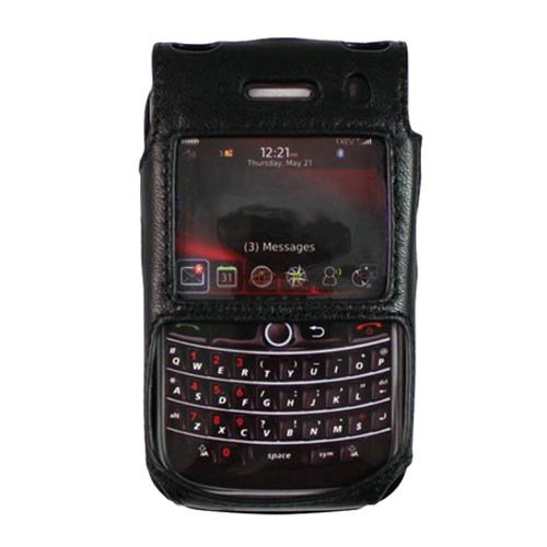 OEM Verizon Blackberry Bold 9650/Tour 9630 Leder Ausgestattet Fall (Schwarz) Verizon Blackberry Bold