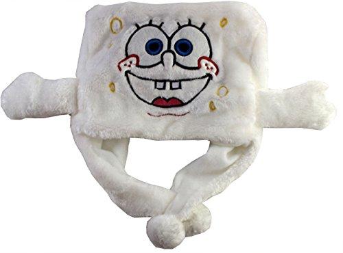 Kukubird niedlichen Cartoon Hüte Schal Damen Kinder Winter Kunstpelze Hood Hut Mütze-SPONGEBOB (1 Hut Spongebob)