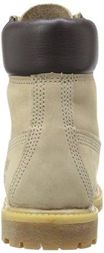 Timberland 6 Inch Premium Boots (6609A) Off White Nubuck W Metallic Finish