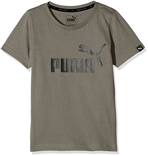 Puma Kinder ESS No.1 Tee Shirt, Castor Gray, 104 (Bio-baumwolle Gerippt)