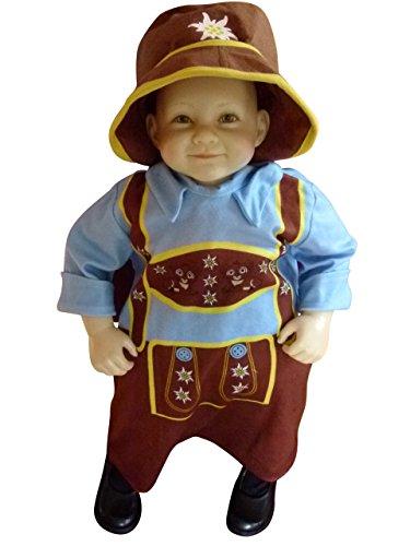 Babys Kostüm Oster - Oktoberfest-Kostüm Bayer, F121 Gr. 74-80, Baby-Kostüm, traditionelles Bayern-Kostüm für Babies, Fasching Karneval, Klein-Kind Karnevalskostüme, Baby-Faschingskostüme, Weihnachts-Geschenk